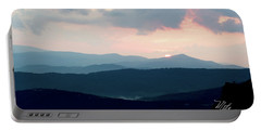 Blue Ridge Mountain Sunset Portable Battery Charger by Meta Gatschenberger