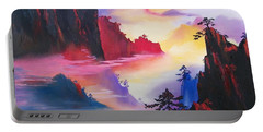 Mountain Top Sunrise Portable Battery Charger by Sharon Duguay