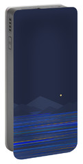 Portable Battery Charger featuring the digital art Mountain Tops II by Val Arie