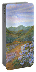 Mountains And Asters Portable Battery Charger