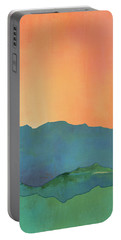 Mountains At Sunrise Portable Battery Charger by Jacquie Gouveia