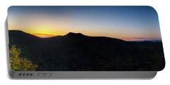 Mountains At Sunset Portable Battery Charger
