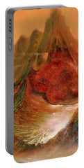 Mountains Fire Portable Battery Charger