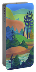 Hills In Spring Portable Battery Charger