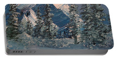 Mountains In Winter Portable Battery Charger