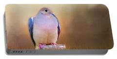 Mourning Dove Painted Portrait Portable Battery Charger