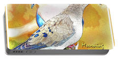 Mourning Dove Pair Poster Image Portable Battery Charger by A Gurmankin