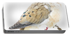 Mourning Dove, Snowy Morning Portable Battery Charger