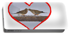 Mourning Doves Kissing Portable Battery Charger