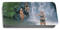 Portable Battery Charger featuring the photograph Mp-457 Fun At Honopu Falls Hi by Ed Cooper Photography