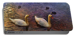 Mr And Mrs Swan Go Viisiting Portable Battery Charger