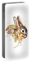 Portable Battery Charger featuring the mixed media Mr. Bunny by Marian Voicu