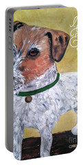 Mr. R. Terrier Portable Battery Charger by Reina Resto
