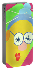 Portable Battery Charger featuring the painting Mrs. Strangefellow by Thomas Blood