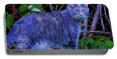 Ms. Kittie Blue Portable Battery Charger