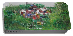 Mt Adams Cincinnati Ohio With Title Portable Battery Charger