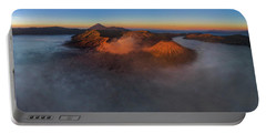 Portable Battery Charger featuring the photograph Mt Bromo Sunrise by Pradeep Raja Prints