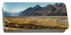 Portable Battery Charger featuring the photograph Mt Cook And Tasman River  by Gary Eason