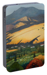 Portable Battery Charger featuring the painting Mt. Diablo Above by Gary Coleman