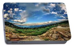 Portable Battery Charger featuring the photograph Mt. Evans Alpine Vista by Chris Bordeleau