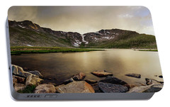 Portable Battery Charger featuring the photograph Mt. Evans Summit Lake by Chris Bordeleau