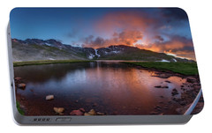 Portable Battery Charger featuring the photograph Mt. Evans Summit Lake Twilight by Chris Bordeleau