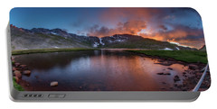 Mt. Evans Summit Lake Twilight Portable Battery Charger by Chris Bordeleau