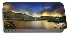 Mt. Evens Summit Lake Sunset Portable Battery Charger by Chris Bordeleau