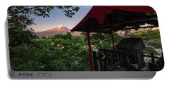 Mt Fuji From Ubuyagasaki Shrine Portable Battery Charger