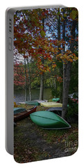 Mt. Gretna Canoes In Fall Portable Battery Charger