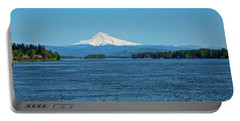 Mt. Hood Above The Columbia River Portable Battery Charger