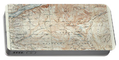 Mt. Hood And Environs Topographic Map  1911 Portable Battery Charger by Daniel Hagerman
