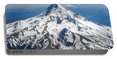 Mt. Hood From 10,000 Feet Portable Battery Charger
