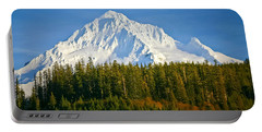 Mt Hood In Winter Portable Battery Charger