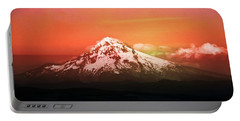 Portable Battery Charger featuring the photograph Mt Hood Oregon Sunset by Aaron Berg