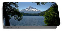 Mt Hood Over Lost Lake Portable Battery Charger