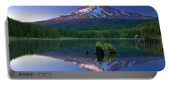 Mt. Hood Reflection At Sunset Portable Battery Charger by William Lee