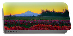 Mt. Hood Sunrise And Tulip Field Portable Battery Charger