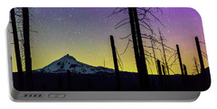 Portable Battery Charger featuring the photograph Mt. Jefferson Bathed In Auroral Light by Cat Connor