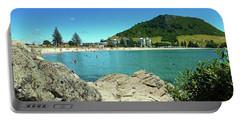 Mt Maunganui Beach 13 - Tauranga New Zealand Portable Battery Charger by Selena Boron