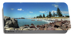 Portable Battery Charger featuring the photograph Mt Maunganui Beach 3 - Tauranga New Zealand by Selena Boron
