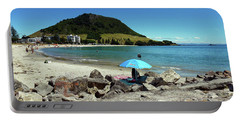 Mt Maunganui Beach 5 - Tauranga New Zealand Portable Battery Charger by Selena Boron