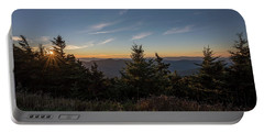 Portable Battery Charger featuring the photograph Mt Mitchell Sunset North Carolina 2016 by Terry DeLuco