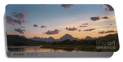 Mt Moran At Sunset Portable Battery Charger