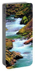 Mt Rainier Cascades, Fine Art Print Portable Battery Charger by Greg Sigrist