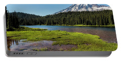 Mt Rainier From Reflection Lake, No. 2 Portable Battery Charger
