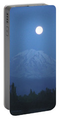 Mt Rainier Full Moon Portable Battery Charger