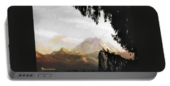 Portable Battery Charger featuring the photograph Mt. Rainier In Lace by Sadie Reneau