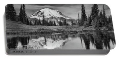Mt Rainier In Reflection Portable Battery Charger