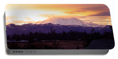 Mt. Rainier On Fire Portable Battery Charger